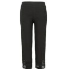 Womens Up Straight Legged Crop Trousers in Black