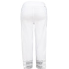 Back view of Womens Up Straight Legged Crop Trousers in White