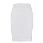 Back of Womens Up Skirt in White