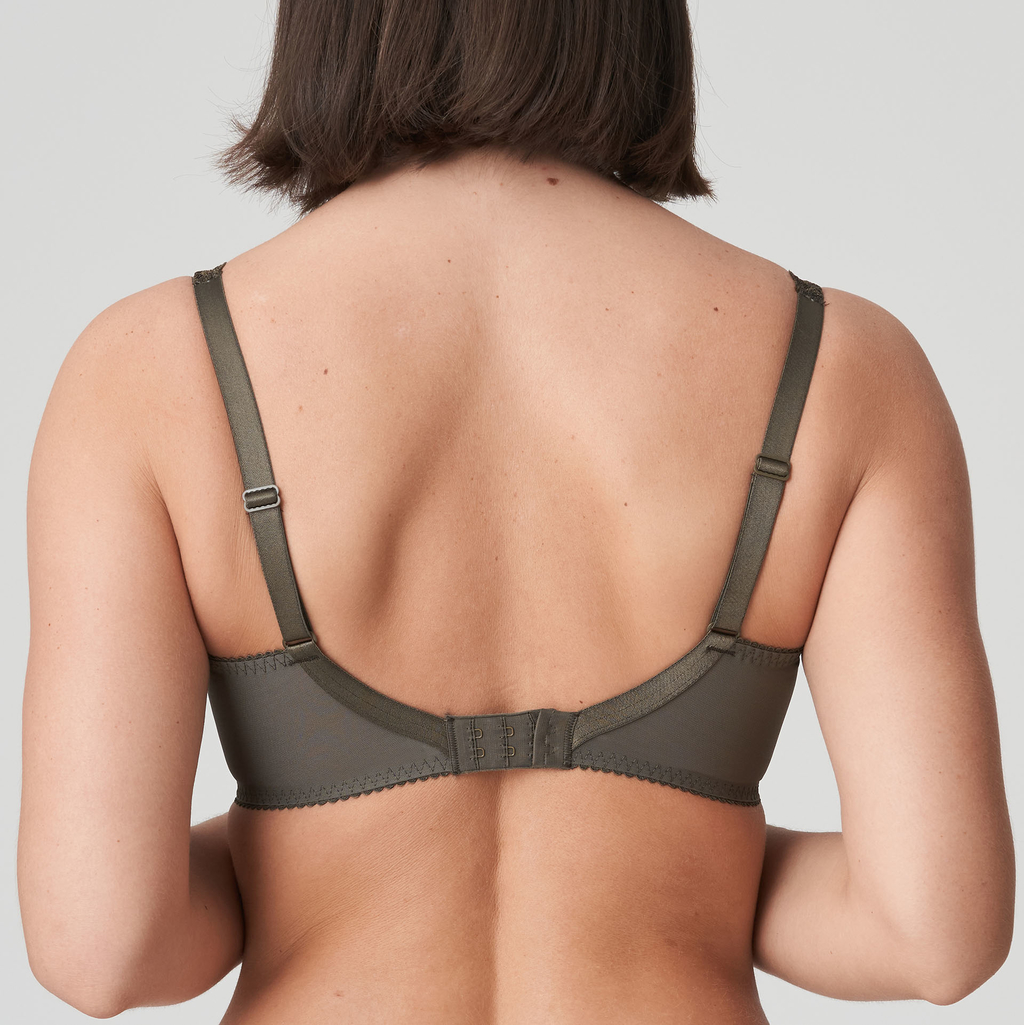 Back view of Prima Donna Palace Garden In Full Cup Bra Khaki Reptile