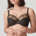 Close up image of Prima Donna Palace Garden In Full Cup Bra Khaki Reptile