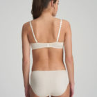 Back image of woman wearing Marie Jo L'Aventure Tom Short in Pearled Ivory with matching bra