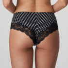 Back close up image of Prima Donna Madison Opaque Hot Pants briefs In Crystal Black
