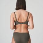 Back image of woman wearing Prima Donna Palace Garden Rio Brief In Khaki Reptile with matching bra