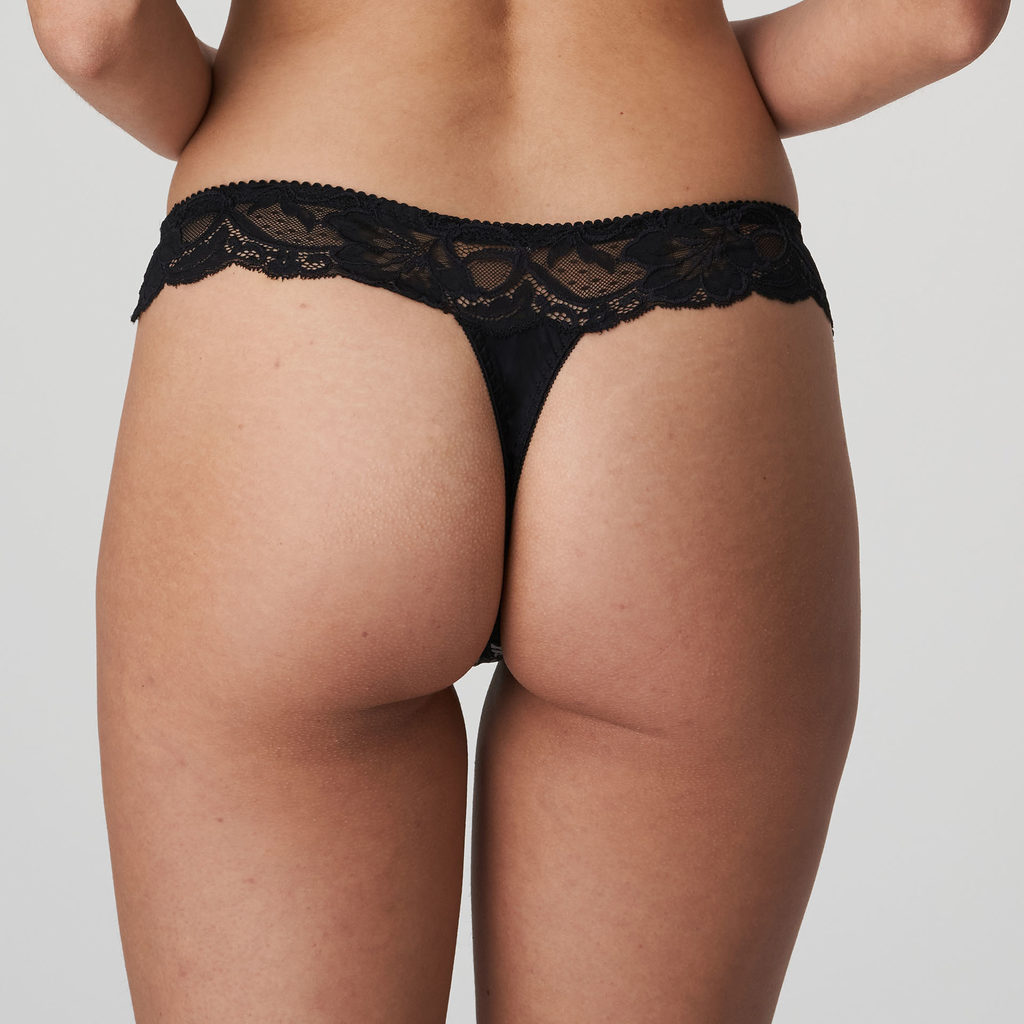 Back image of Prima Donna Madison Opaque G-String In Crystal Black