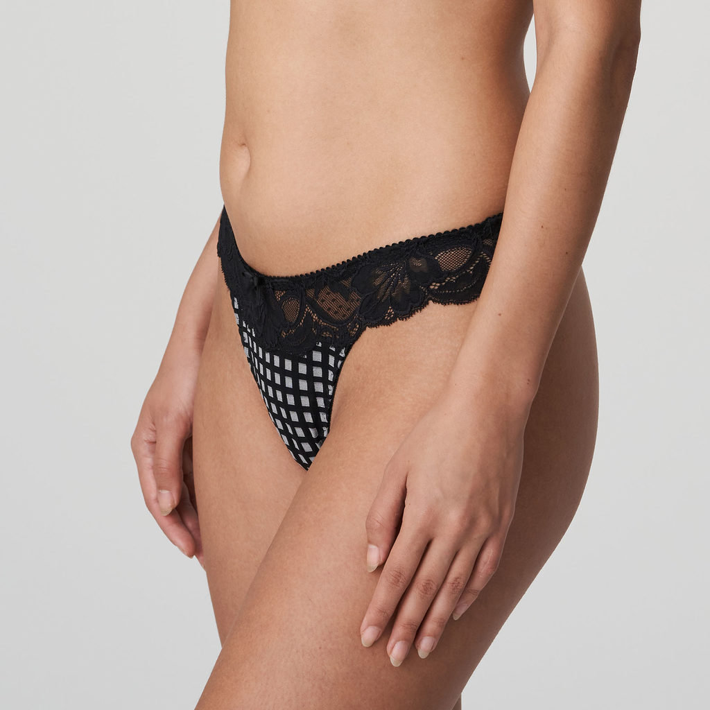 Side image of Prima Donna Madison Opaque G-String In Crystal Black