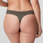 Back close up image of Prima Donna Palace Garden G-String In Khaki Reptile