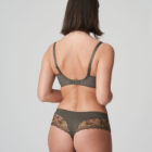 Back image of Prima Donna Palace Garden Luxury G-String In khaki Reptile with matching bra