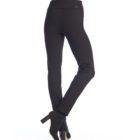 Back image of woman wearing Up! Pants Ponte Slim Leg Trouser in Black