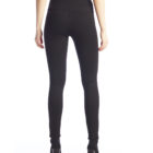 Back image of woman wearing Up! Pants Ponte Super Skinny Leg Trouser in Black