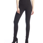 Front image of woman wearing Up! Pants Ponte Super Skinny Leg Trouser in Black