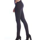 Side image of Up! Pants Ponte Super Skinny Leg Trouser in Navy