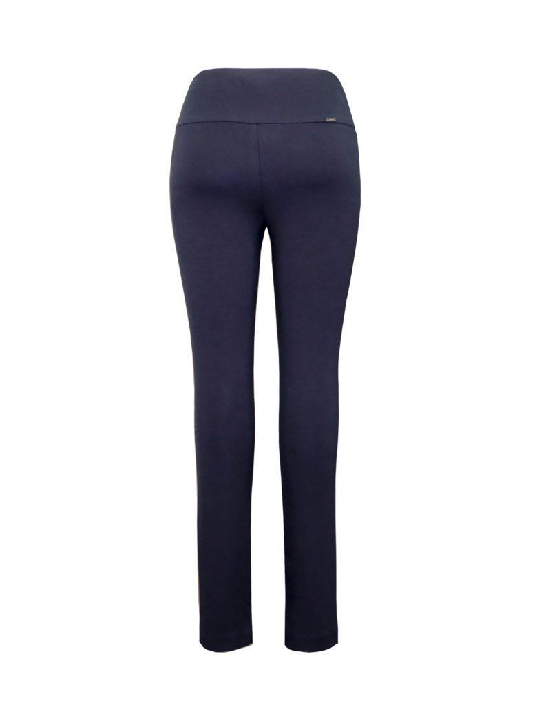Back image of woman wearing Up! Pants Ponte Super Skinny Leg Trouser in Navy