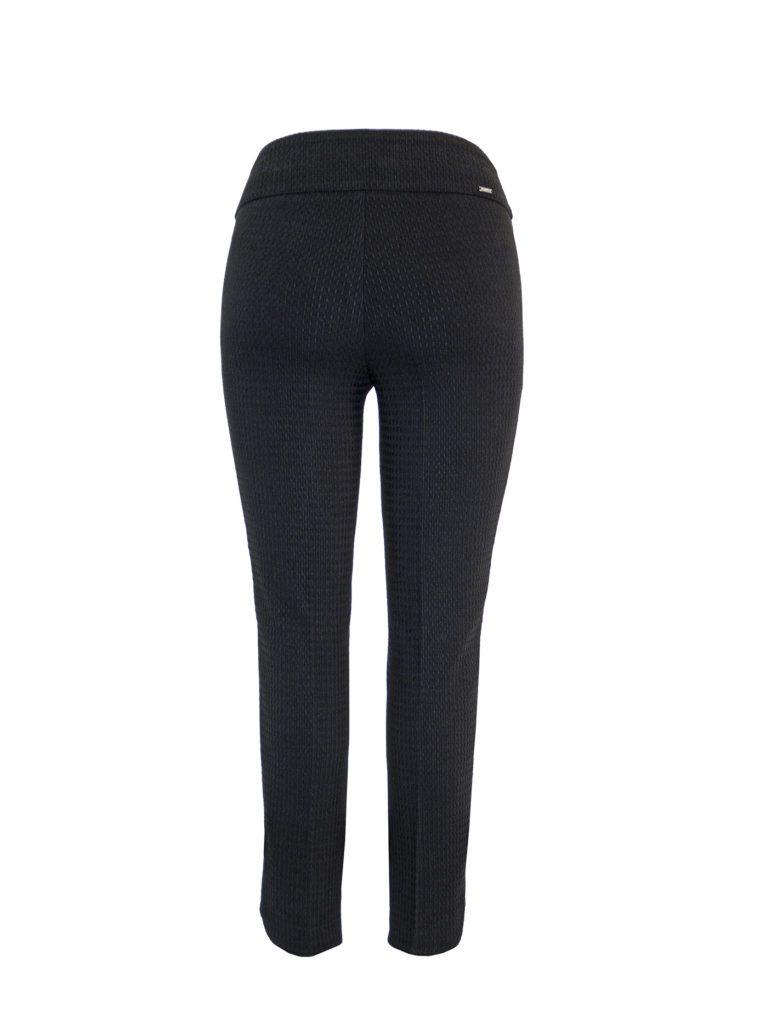 Back image of Up! Pants Boss Petal Slim Leg Trouser in Black