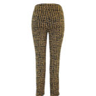 Back image of Up! Pants Kors Slim Leg Trouser in Black and Yellow