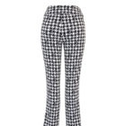 Back image of Up! Pants Gucci Slim Leg Trouser in Black and White