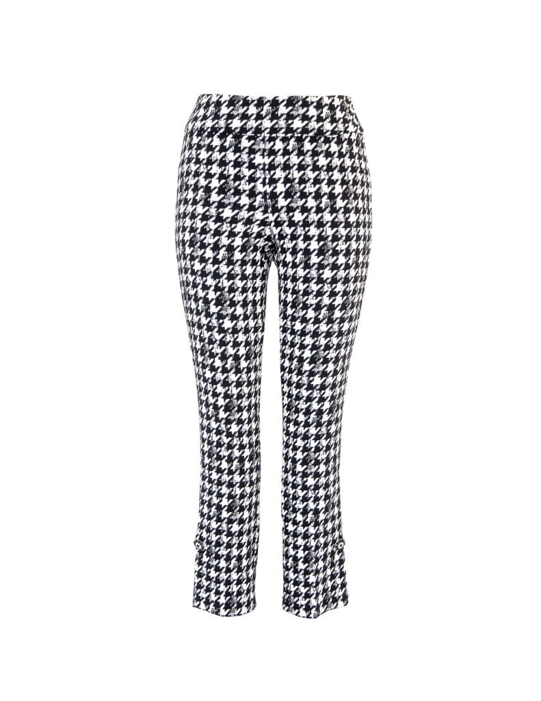 Front image of Up! Pants Gucci Slim Leg Trouser in Black and White