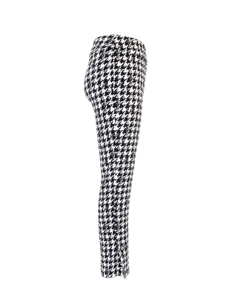 Side image of Up! Pants Gucci Slim Leg Trouser in Black and White