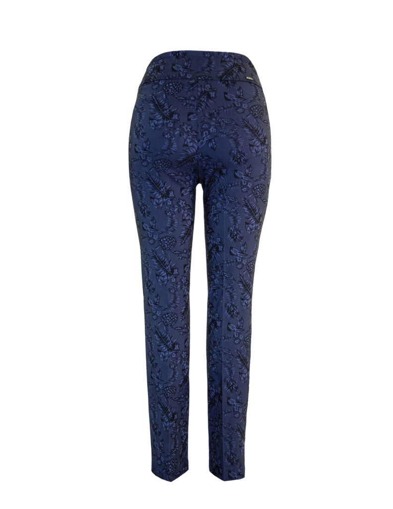 Back Image of Up! Pants Midnight Slim Leg Trouser in Navy