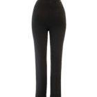 Back image of Up! Pants Ponte Hugger Trouser in Black